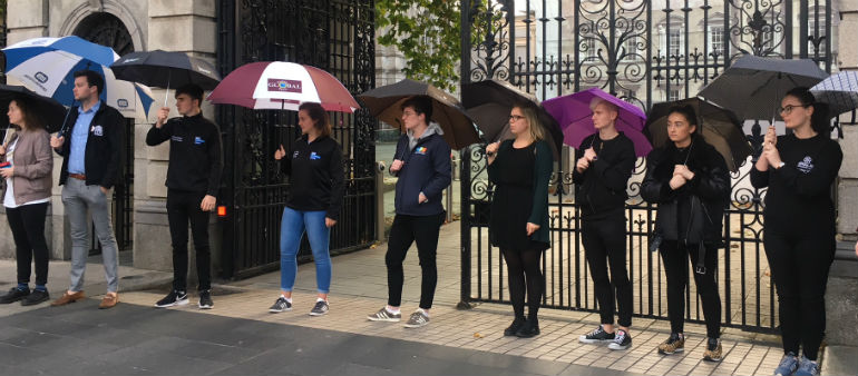 Students Stage Protest Over Budget Plans