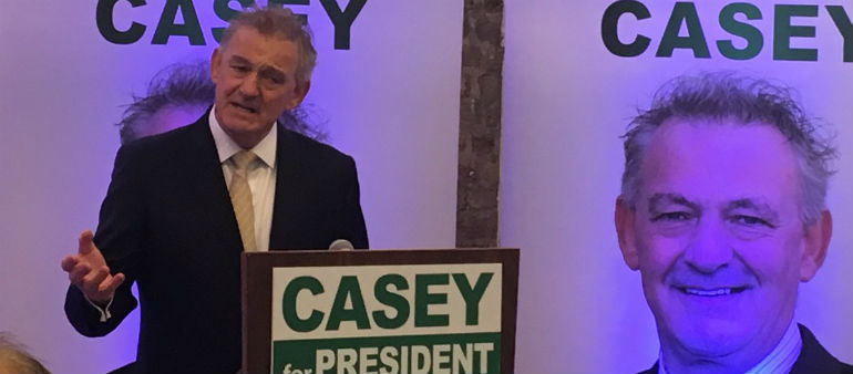 Casey Determined To Stay In Race For Aras