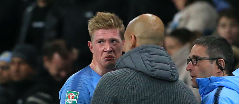 City Sweat Over DeBruyne