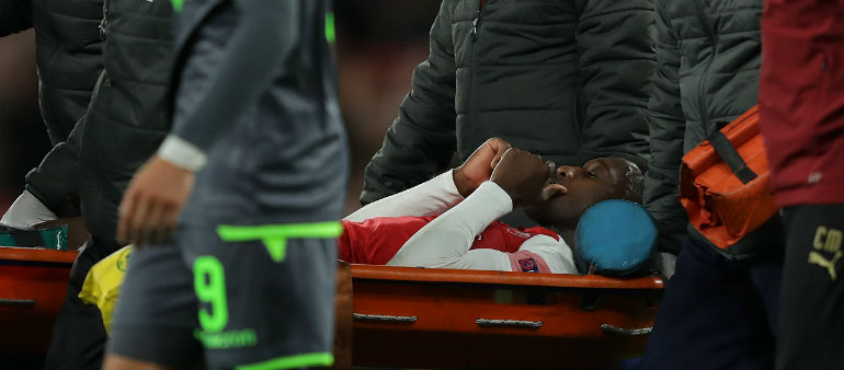 Welbeck Suffers Horror Injury