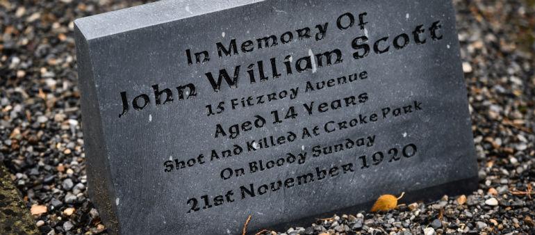 Ceremony honours Dublin Schoolboy killed on Bloody Sunday