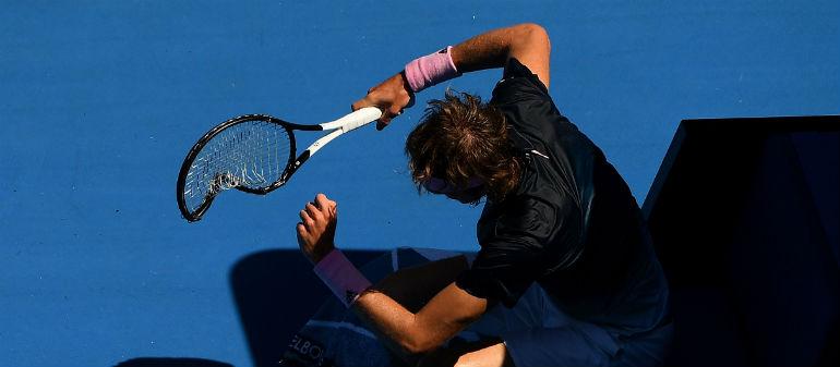 Zverev Suffers Aussie Meltdown