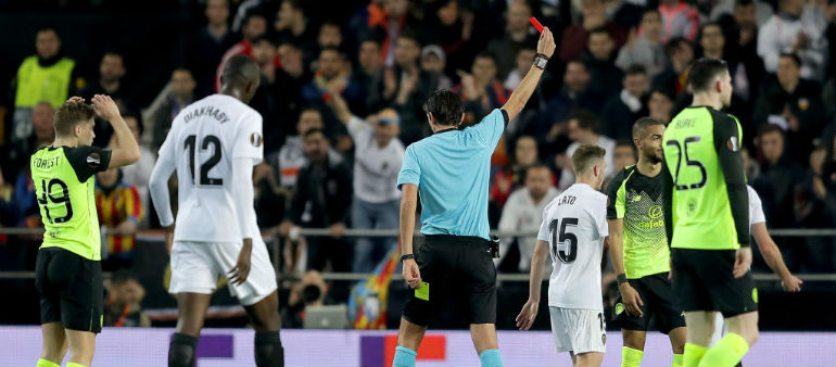 Rodgers blames ref for European exit