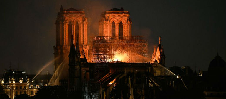 French President vows to rebuild Notre-Dame