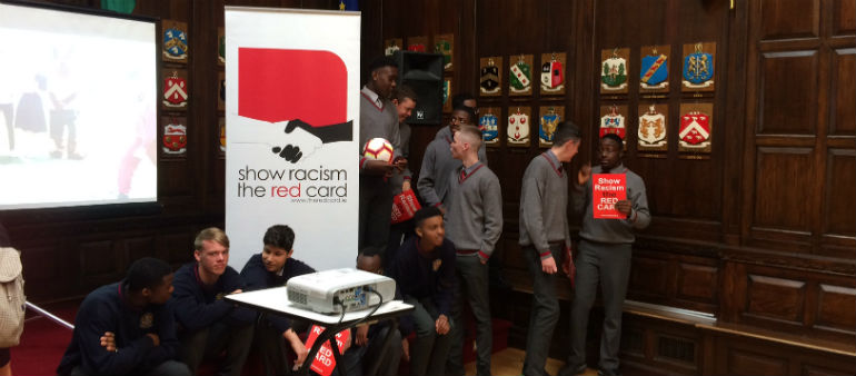Racism shown the red card