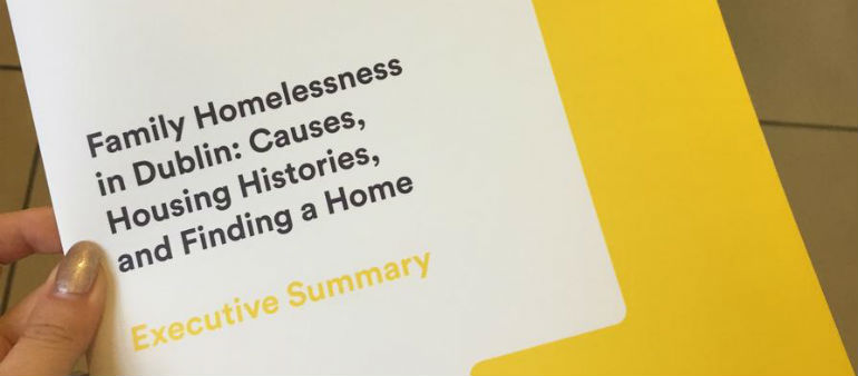 Most homeless families had rented privately
