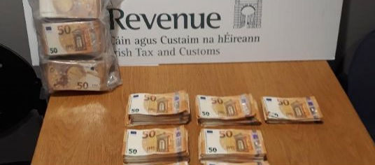 Cash seized at Dublin Airport