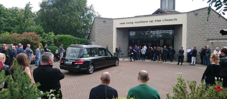 Funeral of Karl Shiels takes place in Castleknock