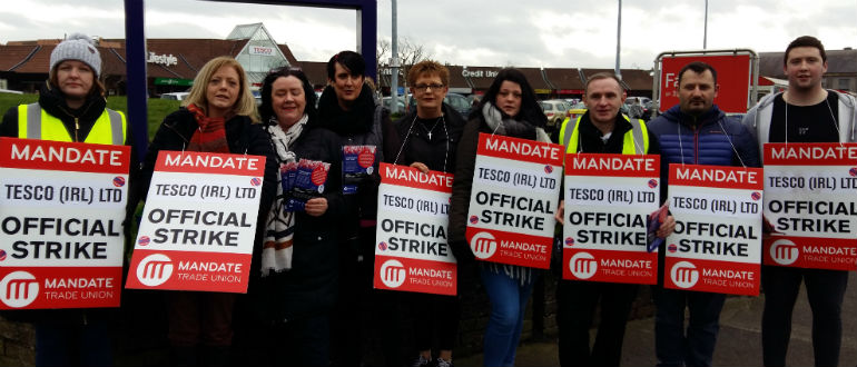 More Tesco Stores Picketed