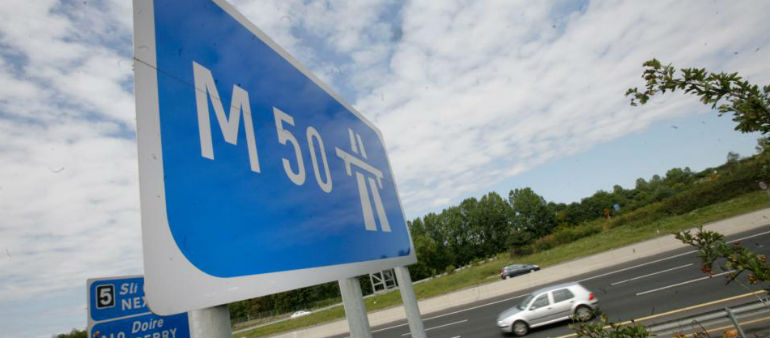 Gardai Deal With M50 Incident