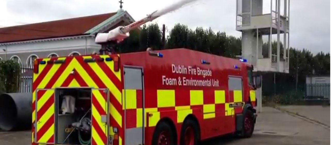 Fire Brigade Tackle Blaze In Derelict Building In Swords