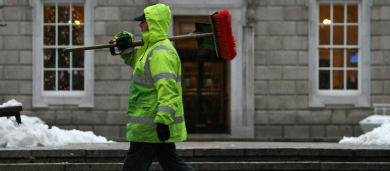 Clean-Up Goes On After Storm