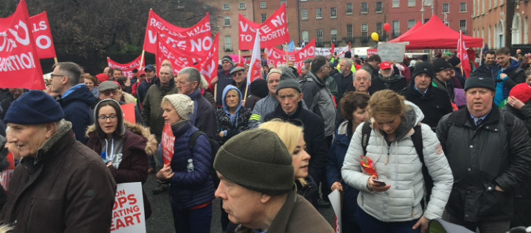 Pro-Life Rally campaigners take to the streets