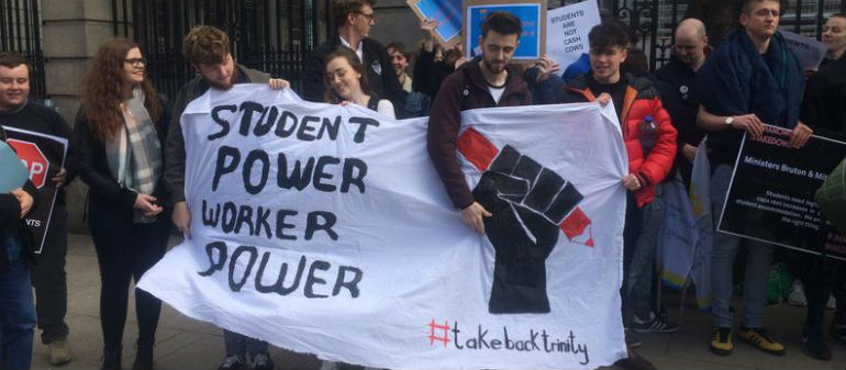 Students protest over massive rent hikes
