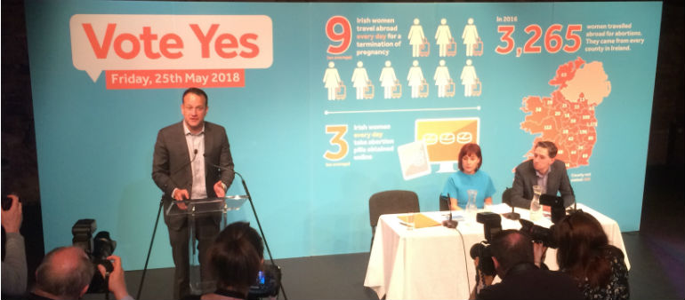Taoiseach Launches Abortion Yes Campaign