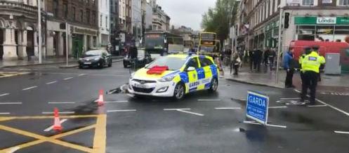 Garda car involved in city centre crash