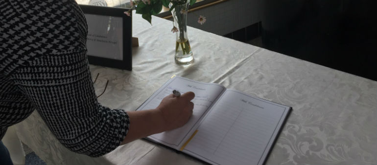 Book Of Condolence Opens For Ana Kriegal