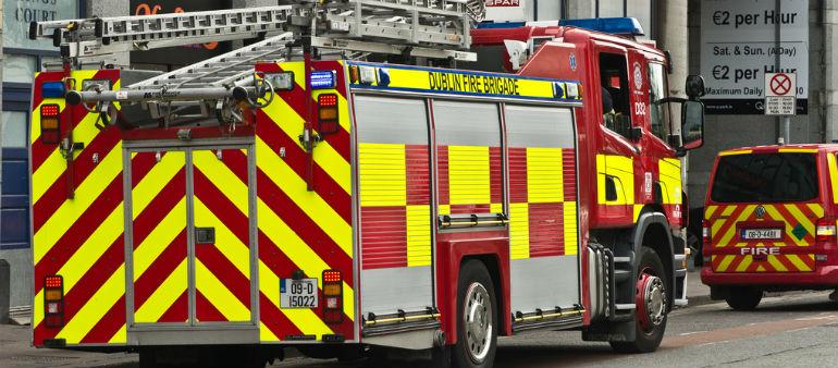 Firemen Tackle City Blaze