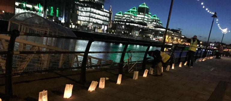 Liffey lit up to highlight homelessness