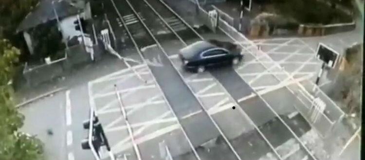 Driver smashes through Irish Rail level crossing
