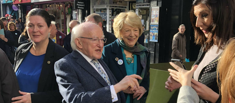 Michael D Higgins on course for re-election