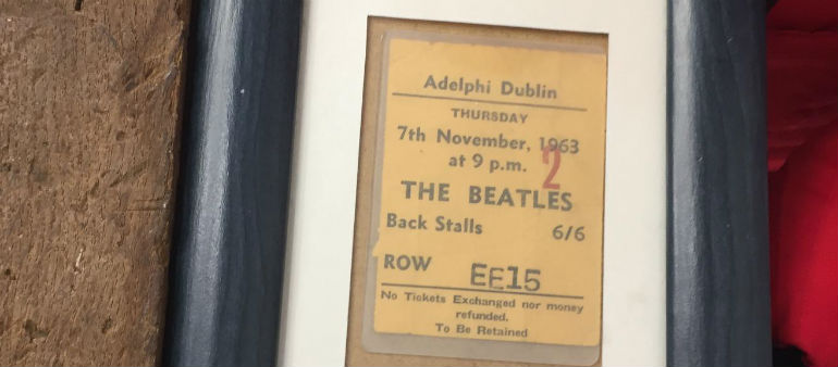 Plaque unveiled to commemorate Dublin Beatles gig