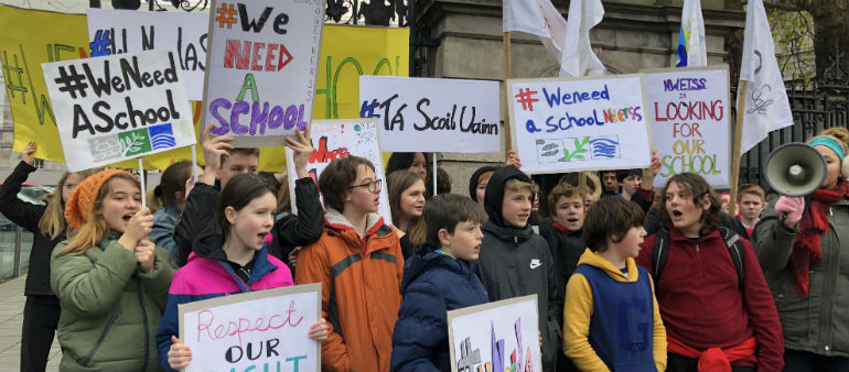 Bray students hold protest over uncertain future
