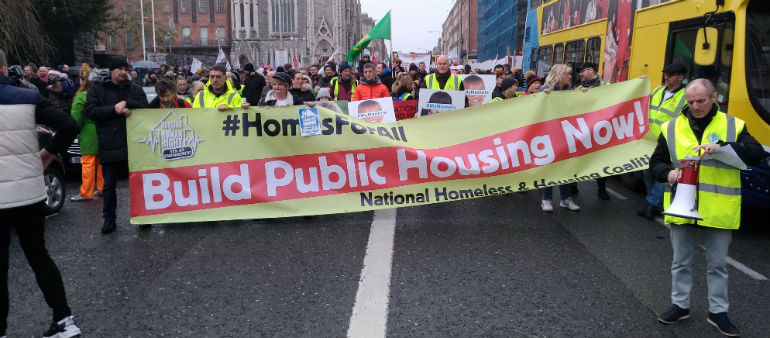 Thousands turn out for housing rally