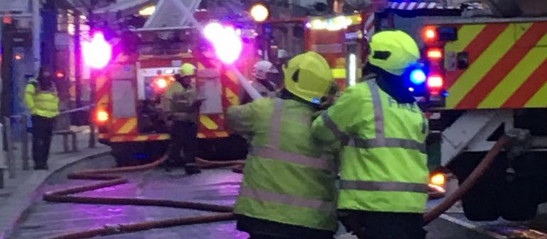 Firefighters Tackle Bray Blaze