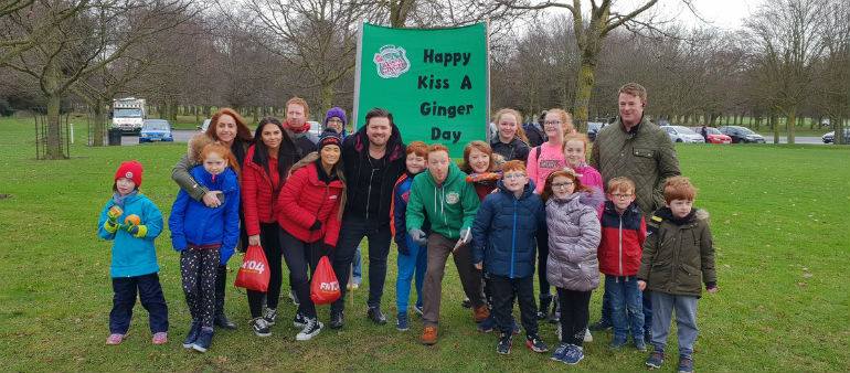 Redheads assemble in the Phoenix Park