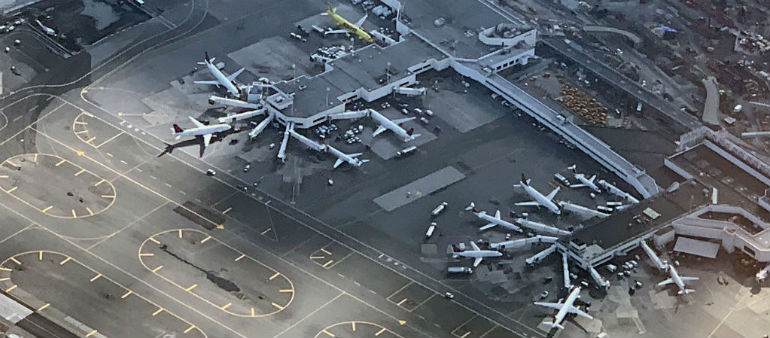 Flights halted into New York airport