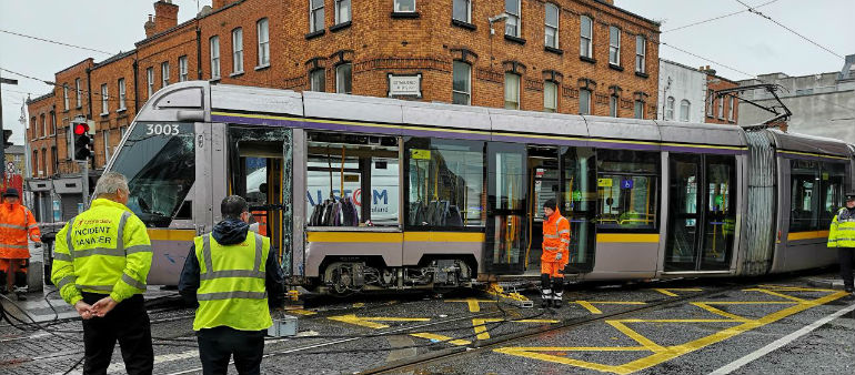 Eight Hurt After Bus And Luas Collide Early Morning Crash
