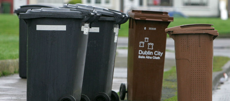 Waste Collector In Wheelie Bins Call