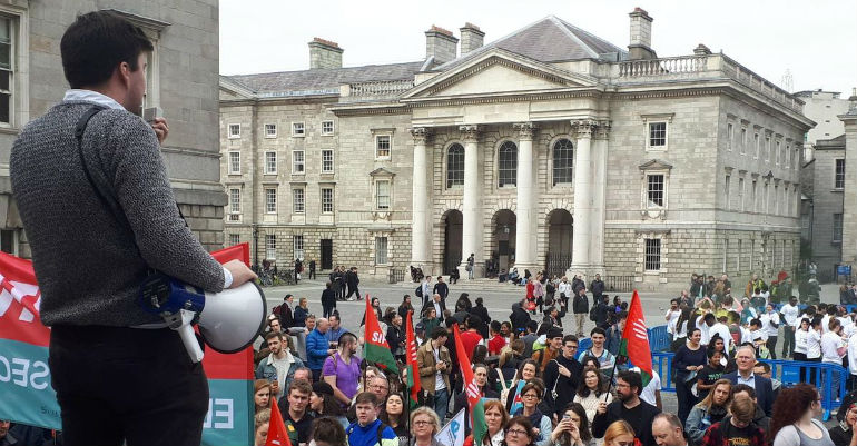 Dublin demo over college funding crisis
