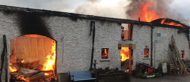 Fire Brigade Attack Large Fire on the South Side