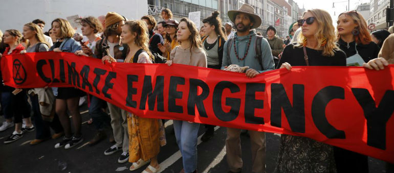 Climate Change Protesters Stage City Demo