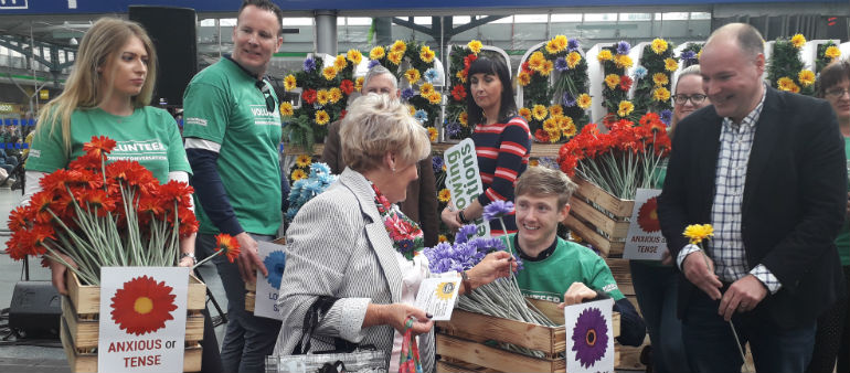 Say it with flowers at Heuston Station