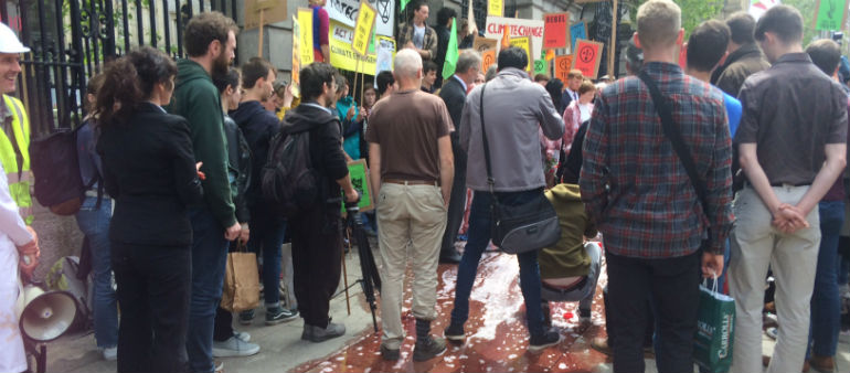 Fake Blood Used In Dail Rally