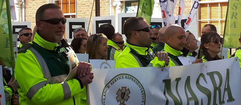 Union Row Sparks Paramedics Protests