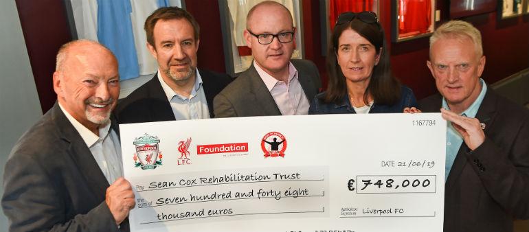 Liverpool Legends Charity match raises €748,000 for Seán Cox Rehabilitation Fund
