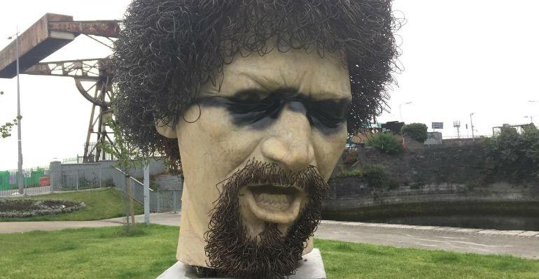 Luke Kelly statue vandalised