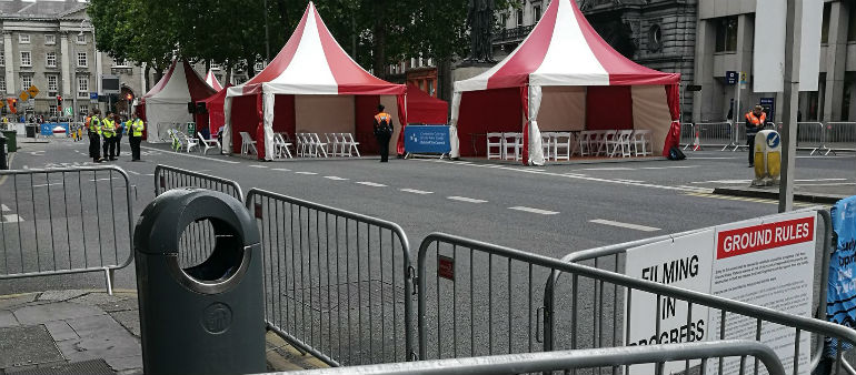 Council removes barriers as College Green closed to traffic