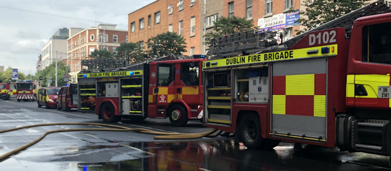 Fire Breaks Out At Dublin Apartment