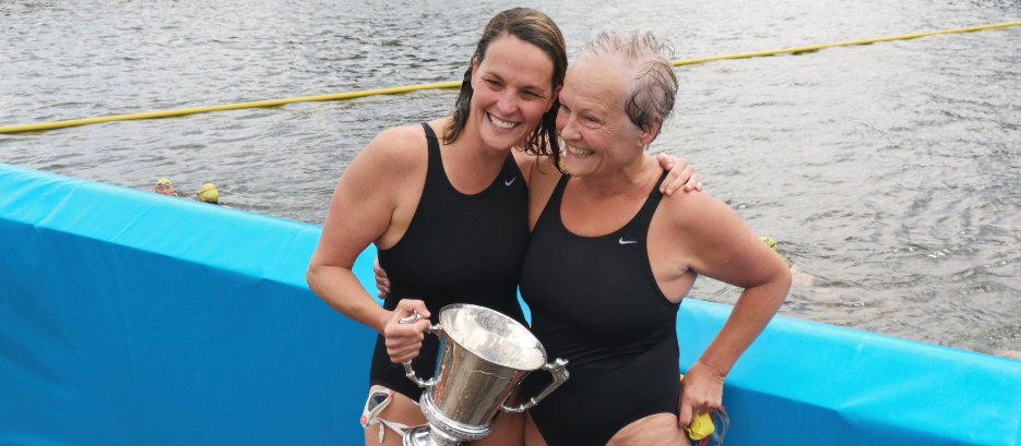 Hanley and Delaney Take First Place in 100th Liffey Swim