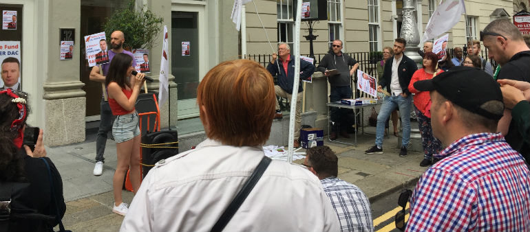 Tenants Stage Protest Amid Eviction Threat