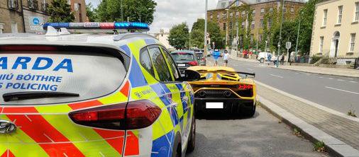 No so fast - Lamborghini driver stopped on Leeson Street