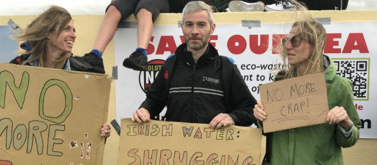 Dollymount Protest over Dublin Bay Pollution