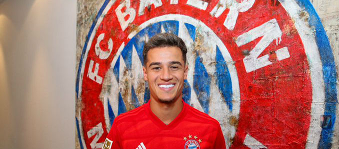 Coutinho moves to Bayern on loan